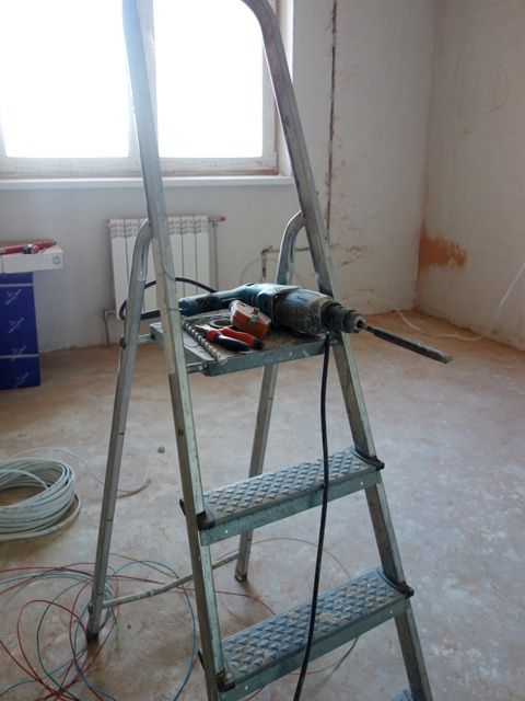 Электромонтаж во время капитального ремонта
