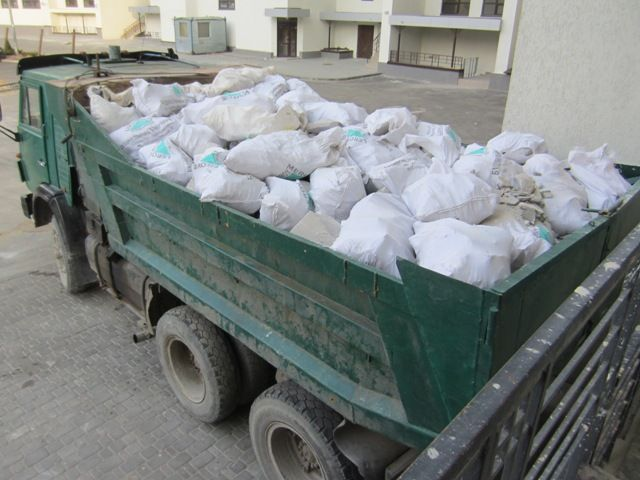 Вывоз мусора во время капитального ремонта и демонтажа